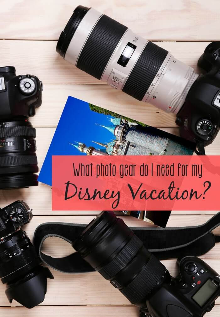 What kind of photography equipment do you REALLY need for your Disney vacation? The best suggestions to help you capture beautiful memories, and maybe even a portrait or two at Disney Parks, while still being able to focus on making memories and enjoying your vacation. Must-have lenses, camera suggestions, etc for your next Disney trip