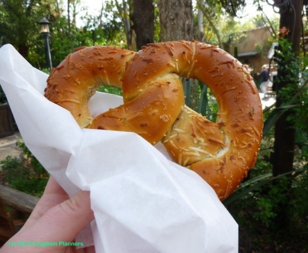 jalapeño cheese pretzel at Disney's Animal Kingdom