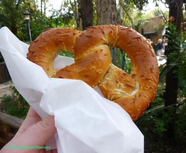 jalapeño cheese pretzel at Disney's Animal Kingdom