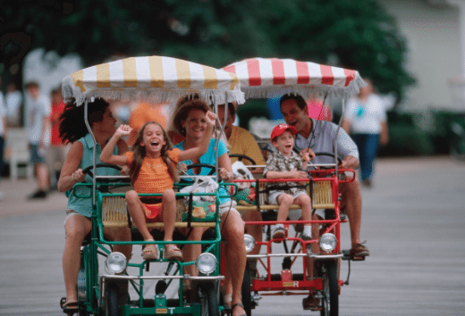 Rent a Surrey Bike at Disney's Boardwalk!