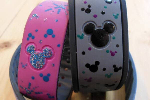 magic bands decorated with nail polish