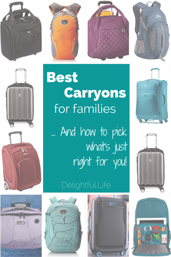 Best Carryon Luggage for Families | The Delightful Life
