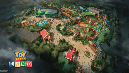 Concept art of Toy Story Land at Disney's Hollywood Studios