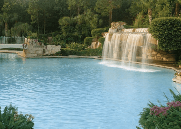 Waterfall at the Swan and Dolphin pool