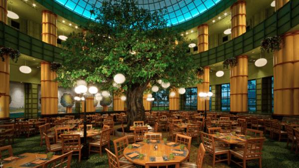 25-foot Oak inside the Garden Grove restaurant