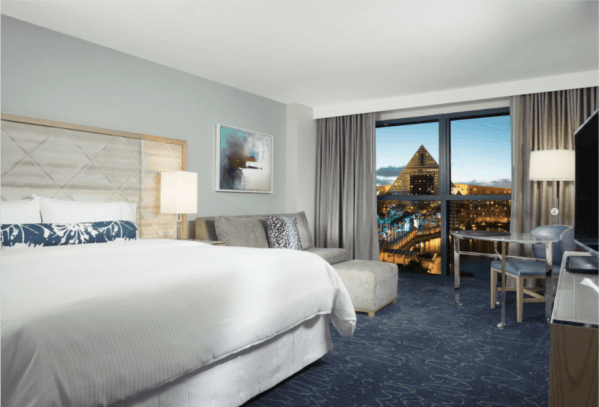 newly renovated WDW Swan Hotel room with Heavenly Beds