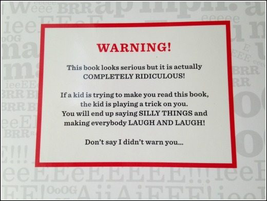 Book with no pictures warning label