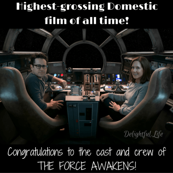 The Force Awakens is now the highest grossing domestic film of all time