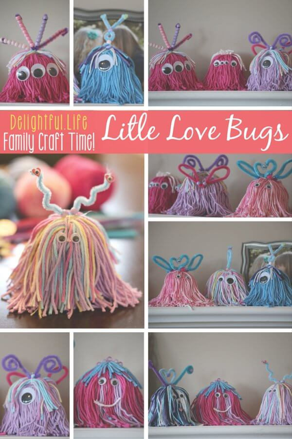 valentine's day craft for the family - little love bugs or monsters