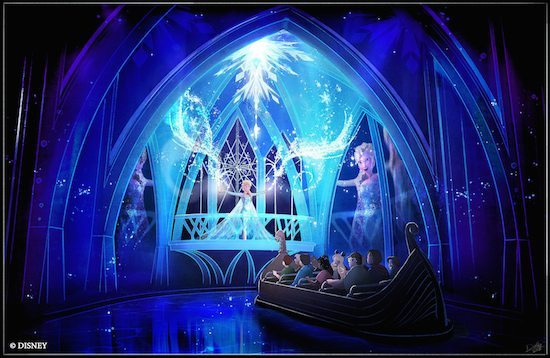 elsa singing let it go in the norway ride Frozen Ever After