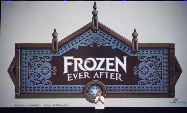 KATHY MANGUM presents Norway ride at D23 Expo
