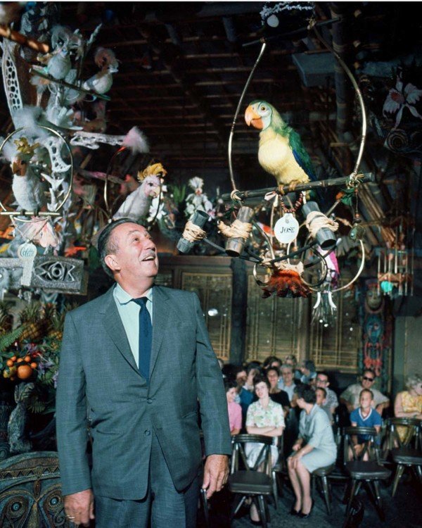 Walt Disney in the Tiki Room