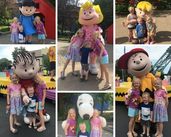 Kings Island Peanuts Characters