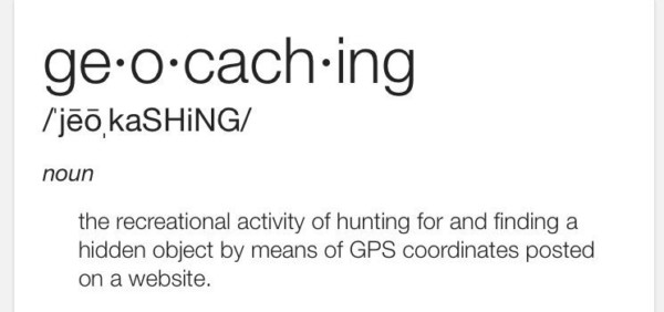 Official definition of geocaching