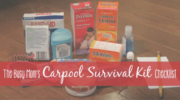 Back-to-School Carpool Survival Kit Checklist