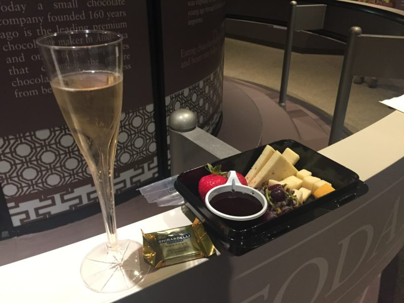 I didn't see it listed yet, but if the drinkable chocolate is available in the Festival Center (at the Chocolate Experiece counter), pair it with the fruit & cheese tray and Fairy Tale Iron Horse Cuvée (from the counter inside the pavilion) for pretty much the best meal ever.