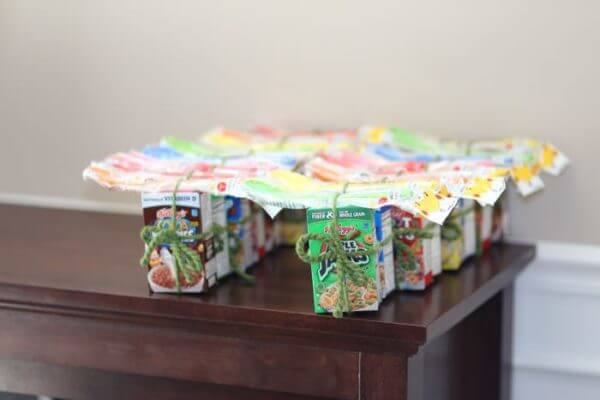 cereal box favors
