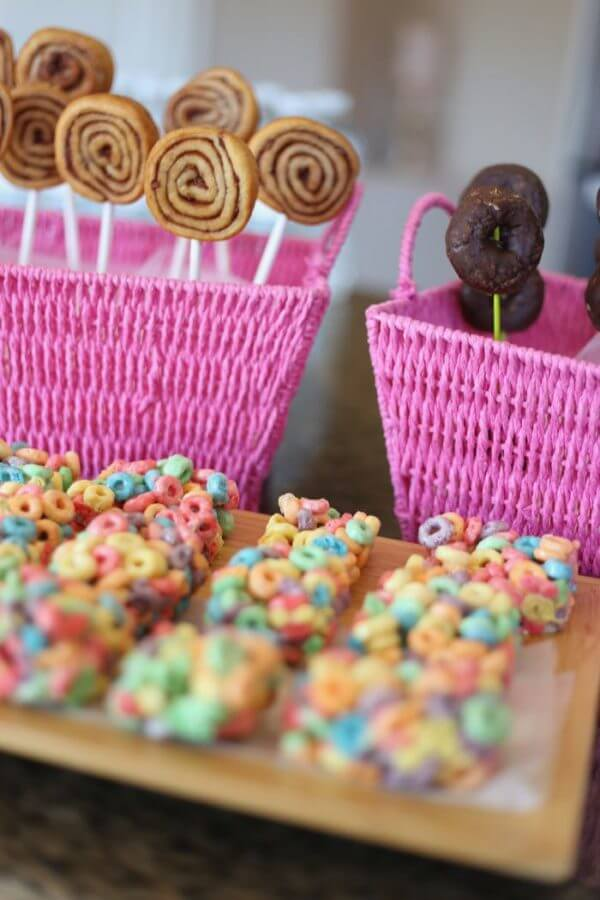 pastry pops and cereal treats