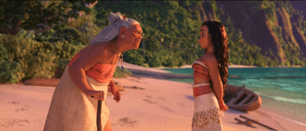 Grandma Tala talks to Moana