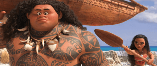 Moana first meets Maui