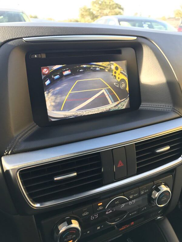Mazda CX5 rearview camera and parking assist