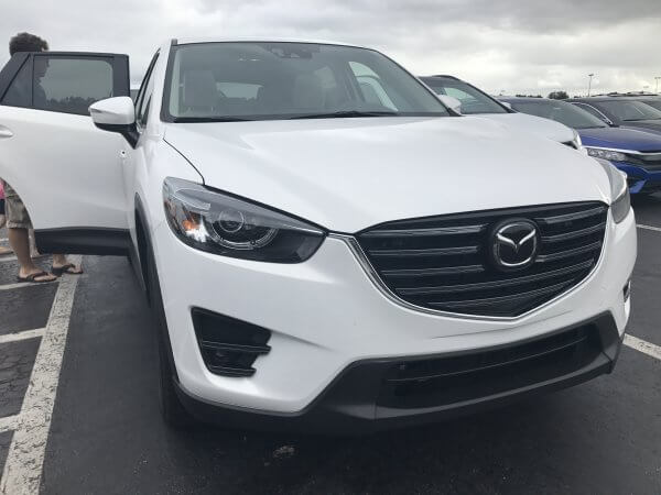 This white Mazda CX-5 was a great option for our trip.