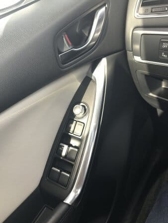 Mazda CX5 driver door controls