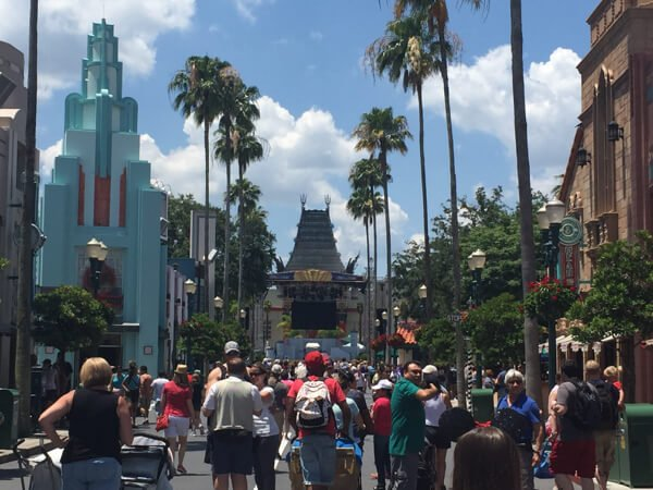 Crowds fill the streets at Disney's Hollywood Studios. It's easier to navigate them on a solo trip to Disney World