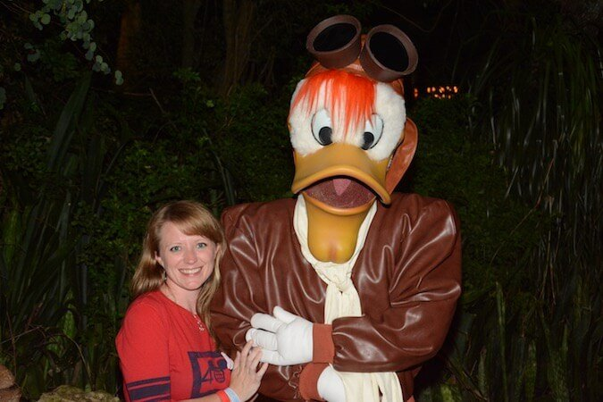 Adults love characters like Launchpad McQuack, too - and can visit them on solo trips without embarrassing their kids.