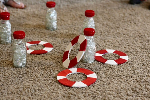 DIY nautical/life-preserve ring toss game
