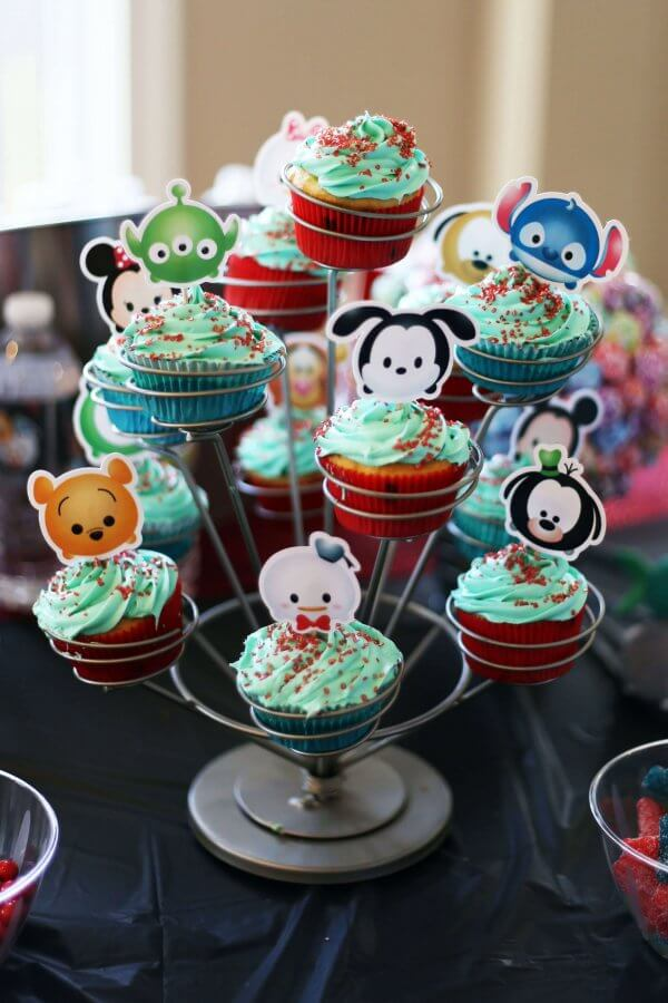 tsum tsum cupcake toppers for a DIY disney themed party