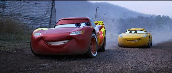 Lightning and Cruz drive together and go on a journey in Cars 3