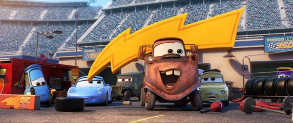 Mater, Sally, Sarge, Luigi, and more friends from Radiator Springs are in Cars 3