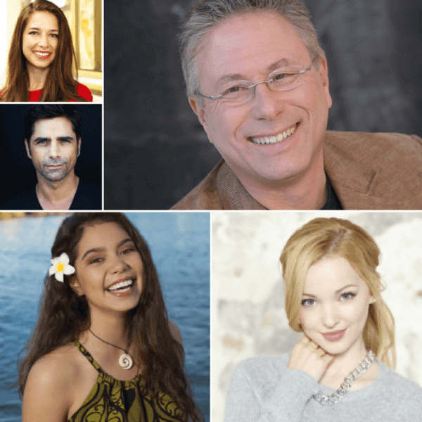 Lorelay Bove, John Stamos, Alan Menken, Auli'i Cravalho, and Dove Cameron, some of the D23 Expo guests