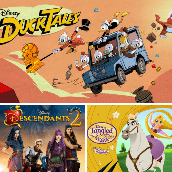 Disney XD DuckTales, Disney Channel original Descendents 2, Disney Channels Tangled: the Series