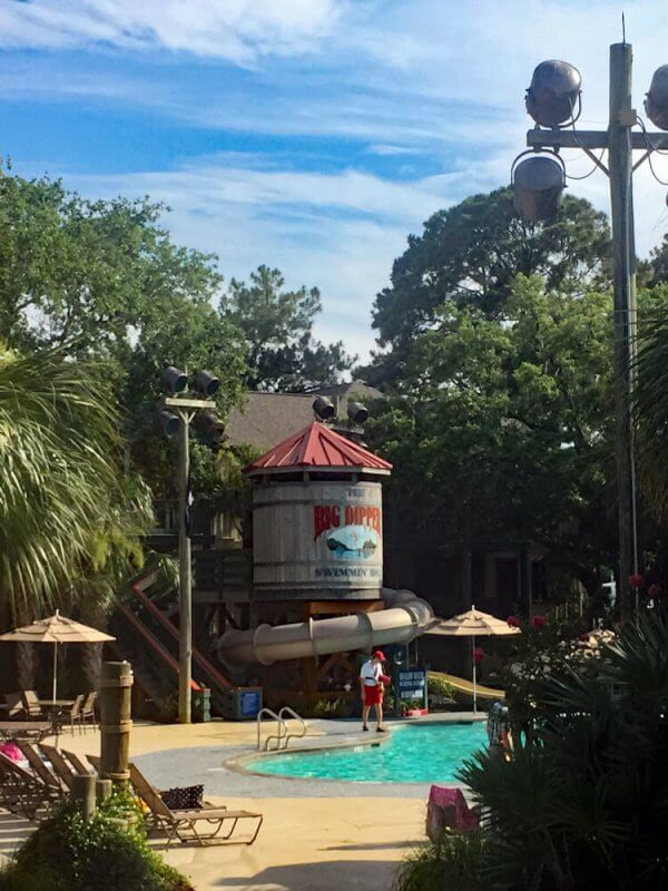the big dipper pool is one of three pools available at Disney's Hilton Head Island resort