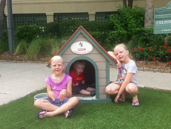 the kids always have to visit Shadow's dog house at Disney's HHI resort