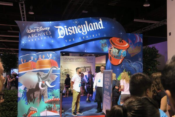 Walt Disney Archives has an extremely large show floor exhibit at the D23 Expo in Anaheim, California