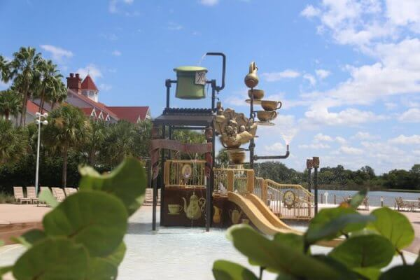 Alice in Wonderland water play area at Disney's Grand Floridian Villas