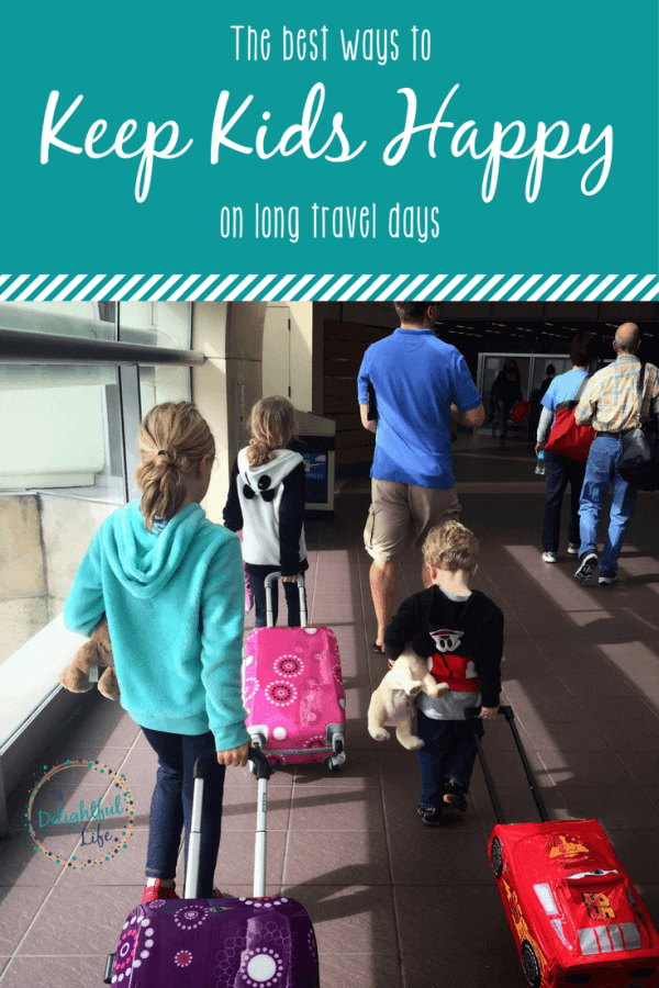 Travel days can be exhausting, but after lots of family trips we've figured out several ways to keep kids - and parents! - smiling. I've shared what we do to keep kids entertained on planes and during road trips, how to meet needs when on the road, keep schedules on track while traveling, and more.