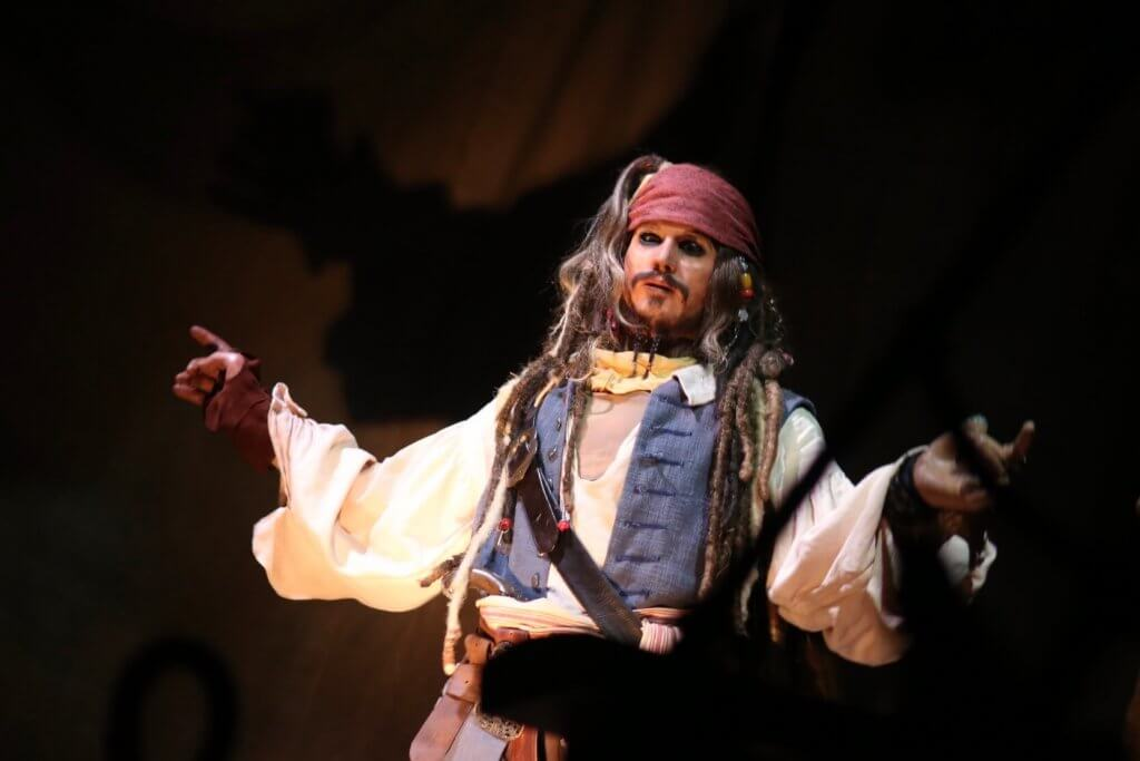 Incredible Jack Sparrow audio animatronic from the most recent Pirates of the Caribbean ride, at Shanghai Disneyland