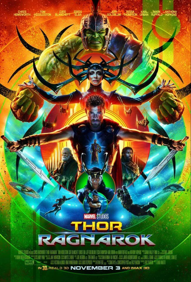 Our spoiler-free Thor: Ragnarok review, including a parent's opinion on whether kids should see it. Thor is super. Loki is bewildering. Hela is ruthless. The story is great (and oh, so funny!). It's irreverent, super self-aware, and chock full of surprises. (Starring Chris Hemsworth, Tom Hiddleston, Bruce Banner, Cate Blanchett, Idris Elba, Anthony Hopkins, and more) #Movies #Thor #ThorRagnarok #Marvel #moviereview #DisneyMovies