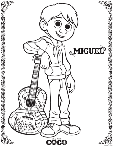 Click The Pictures To Pull Up A Printable Version Of These Coco Coloring Pages