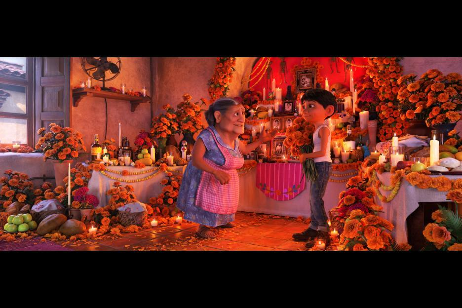 Miguel and Abuelita from Pixar's 2017 film Coco