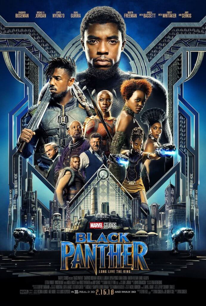 black panther movie poster for marvel's 2018 hit