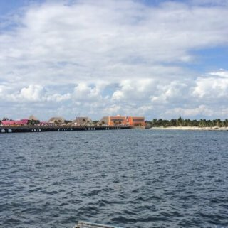 the man-made port of Costa Maya as seen from the Disney Fantasy