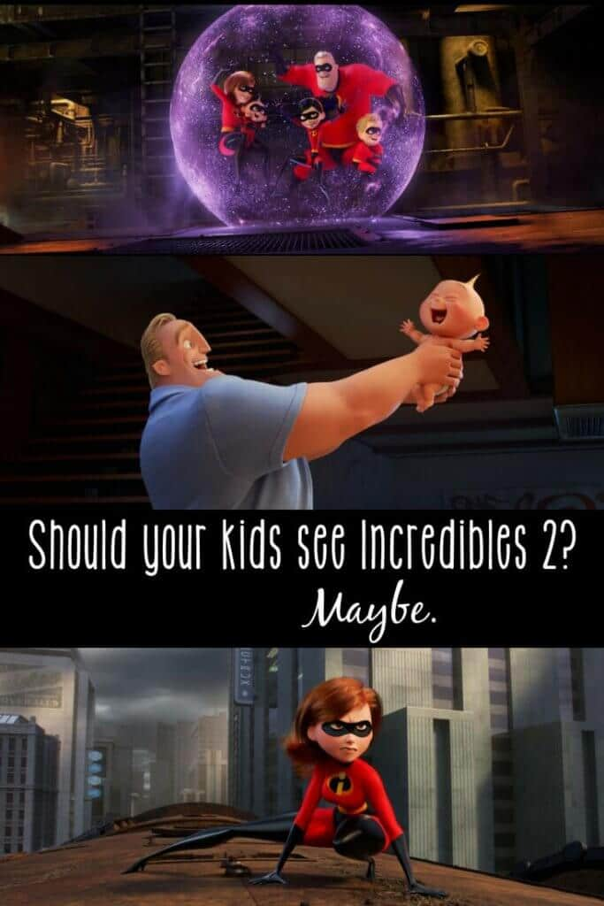 In all honesty, I think you'd be doing yourself a favor to run to the nearest theater for Pixar's latest... but part of our parent review may surprise you. What to watch out for in #Incredibles2, with regards to language, scary stuff, and family relationships.