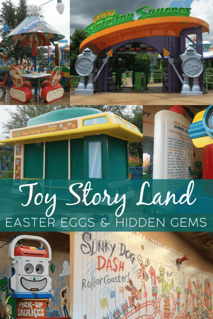 We LOVED the amazing details in Toy Story Land, which opened at Walt Disney World in Disney's Hollywood Studios. Slinky Dog Dash and Alien Swirling Saucer are fun, but don't miss the hidden gems, throwback to the Toy Story movies, nostalgic references to your favorite toys, and so much more!