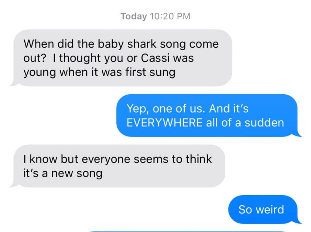 baby shark isn't a new song