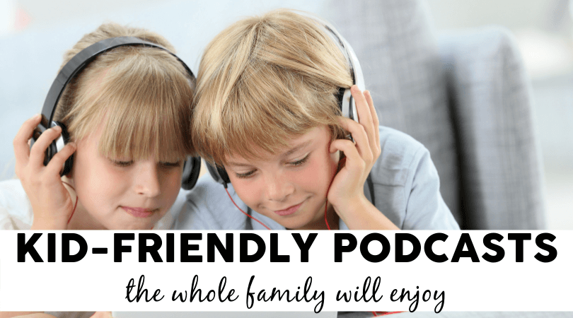 Does your family listen to audiobooks or podcasts? We've got a family-tested and parent-approved list of kid-friendly podcasts that everyone can enjoy!
